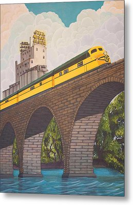 Stone Arch Bridge Metal Print by Jude Labuszewski