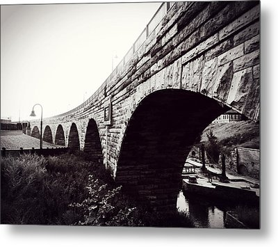Stone Arch Bridge Metal Print by Zinvolle Art