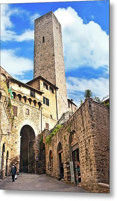 Stone Arch De Becci De Cuganesi Tower Metal Print by Miva Stock