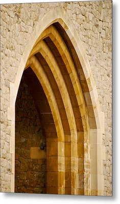 Stone Archway At Tower Hill Metal Print by Christi Kraft