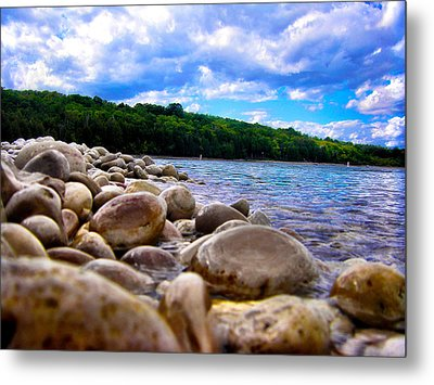 Metal Print featuring the photograph Stone Beach by Zafer Gurel