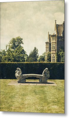 Stone Bench Metal Print by Joana Kruse