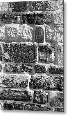 Stone Brick Wall Metal Print by Jagdish Agarwal