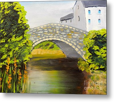 Stone Bridge At Burrowford Uk Metal Print