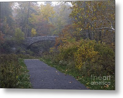 Stone Bridge In Autumn 3 Metal Print
