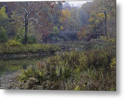 Stone Bridge In Autumn I Metal Print