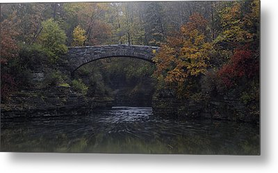 Stone Bridge In Autumn II Metal Print