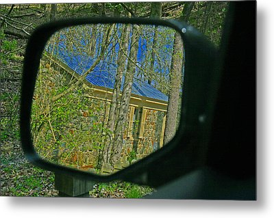 Metal Print featuring the photograph Stone Cabin Reflection by Andy Lawless