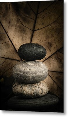Stone Cairns II Metal Print by Marco Oliveira