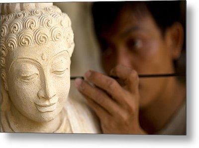 Stone Carver - Bali Metal Print
