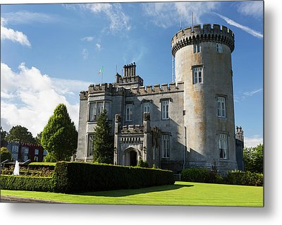 Stone Castle With Turret, Manicured Metal Print