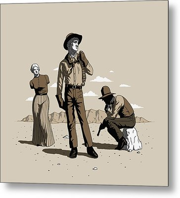 Stone-cold Western Metal Print