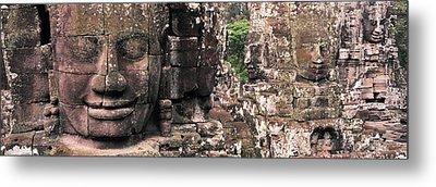 Stone Faces Bayon Angkor Siem Reap Metal Print by Panoramic Images