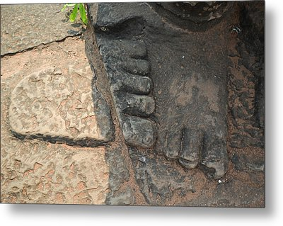 Stone Feet Cambodia Metal Print by Bill Mock