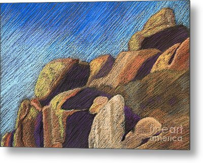 Stone Formations Metal Print by Pattie Calfy