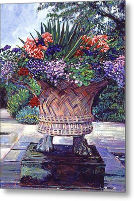 Stone Garden Ornament Metal Print by David Lloyd Glover