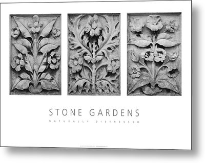 Stone Gardens 1 Naturally Distressed Poster Metal Print by David Davies