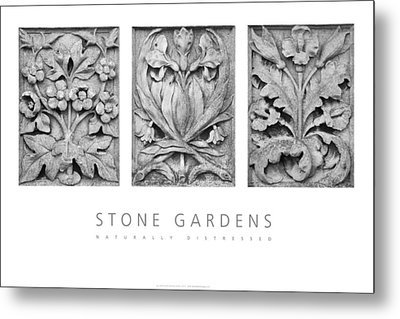 Stone Gardens 2 Naturally Distressed Poster Metal Print by David Davies
