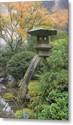 Metal Print featuring the photograph Stone Lantern In Japanese Garden by JPLDesigns