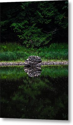 Stone Reflection Metal Print by Anthony Thomas
