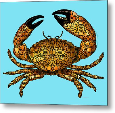 Stone Rock'd Stone Crab By Sharon Cummings Metal Print by Sharon Cummings
