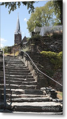 Stone Steps And Saint Peters Church At Harpers Ferry Metal Print by William Kuta