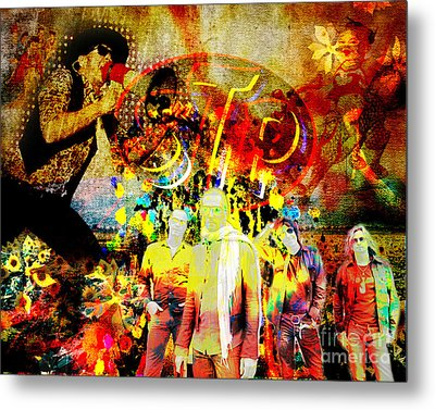 Stone Temple Pilots Original  Metal Print by Ryan Rock Artist