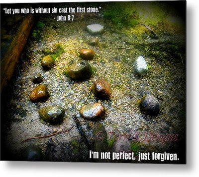 Stone Metal Print by Terri K Designs