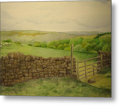 Stone Wall Metal Print by Jeff Lucas