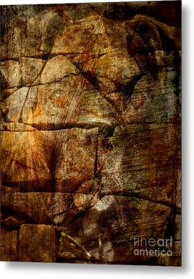 Stone Wall Metal Print by Judy Wood