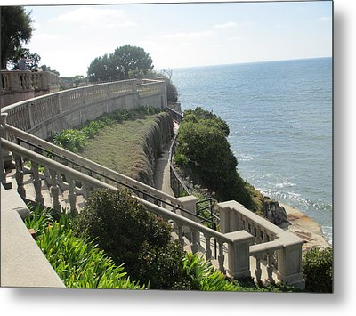 Stone Wall Over The Sea Metal Print