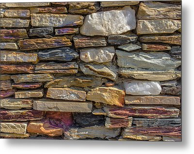 Stone Wall Metal Print by Paul Donohoe