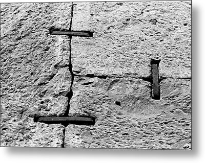 Stone Wall Support Metal Print by Jagdish Agarwal
