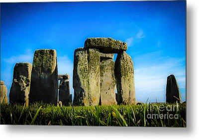 Stonehenge From The Earth Metal Print by David Warrington