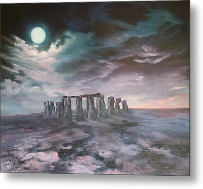 Metal Print featuring the painting Stonehenge In Wiltshire by Jean Walker