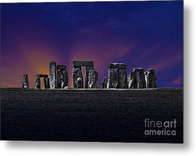 Metal Print featuring the photograph Stonehenge Looking Moody by Terri Waters