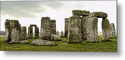 Stonehenge Panorama Metal Print by Jon Berghoff