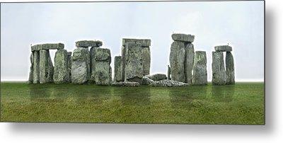 Stonehenge Panoramic - England Metal Print by Mike McGlothlen