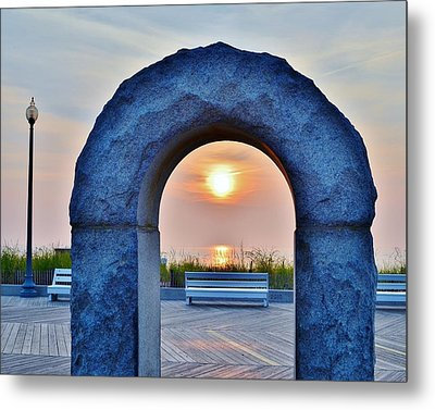 Sunrise Through The Arch - Rehoboth Beach Delaware Metal Print