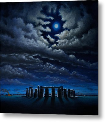 Stonehenge - The People's Circle Metal Print