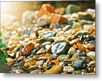 Stones Metal Print by Debbie Sikes