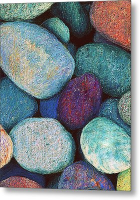 Stones In Pastel Metal Print by Antonia Citrino
