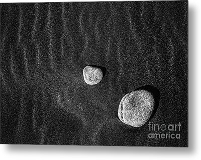 Metal Print featuring the photograph Stones In The Sand by Gunnar Orn Arnason