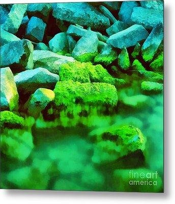 Stones In The Water Metal Print by Odon Czintos