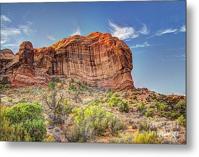 Stones Of The West Metal Print by Wanda Krack