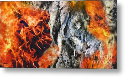 Stones On Fire 1 Metal Print by Dov Lederberg