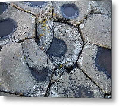 Stones On Giant's Causeway Metal Print by Marilyn Zalatan