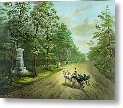 Stonewalls Memorial At Chancellorsville Metal Print