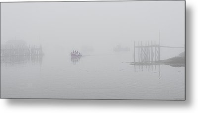 Metal Print featuring the photograph Stonington Maine Morning Fog by Marty Saccone