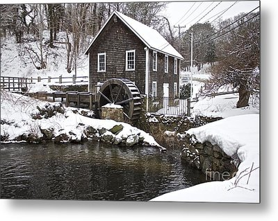 Stony Brook Grist Mill Of Brewster Metal Print by Amazing Jules